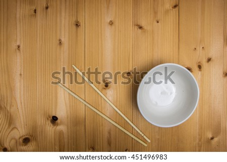 Cup of soup,on wooden table,Top view.