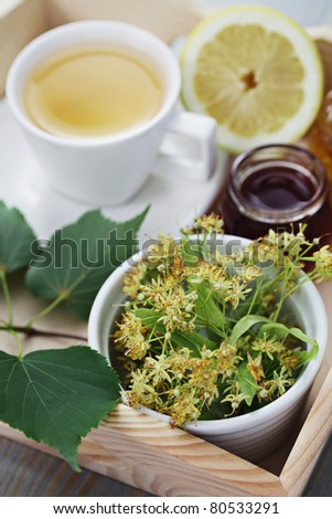 cup of tea and linden flowers - tea time