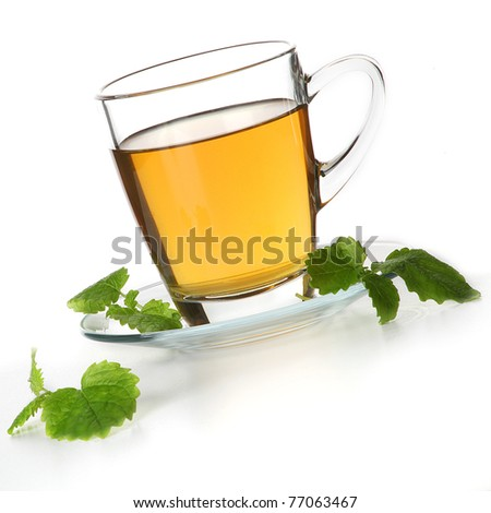 cup of tea and mint