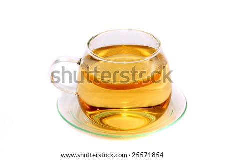 Cup of tea in white background