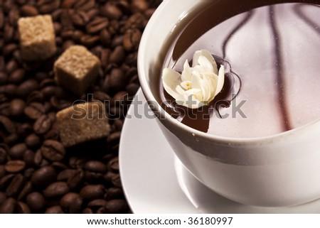 Cup of tea (shallow DOF) - stock photo