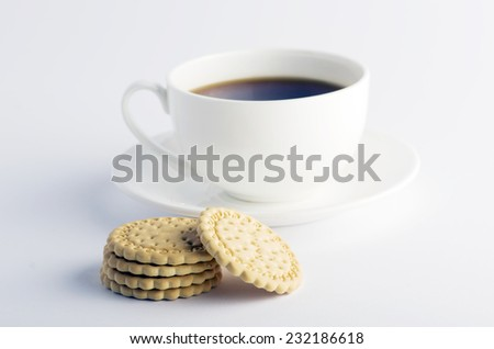 Cup of tea with cookies  - stock photo