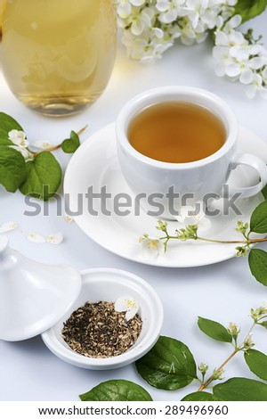 Cup of tea with jasmine