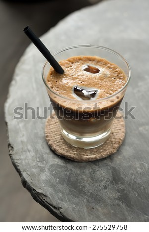 Cup of Vietnamese Iced Coffee - stock photo