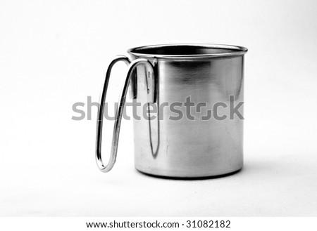 Cup on a plain background
