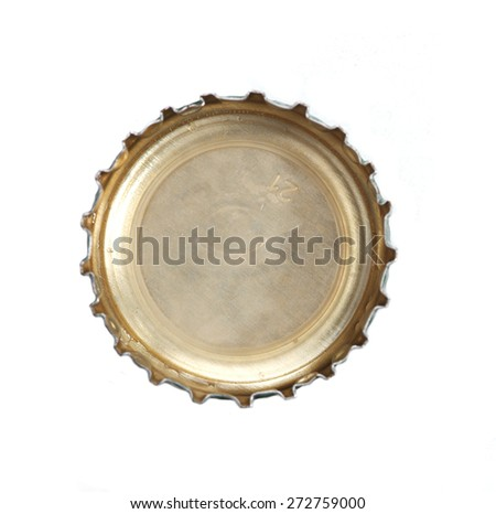 Cup on white background - close-up