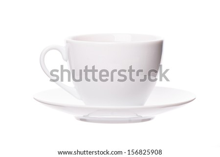 Cup on white background. Studio shot - stock photo