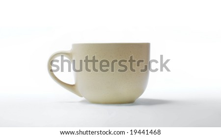 Cup or pan ,isolated on white background