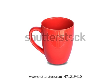 cup orange color on isolated