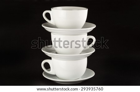 Cup, Stack, Tea. - stock photo