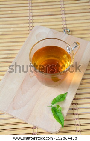 Cup Tea with Mint Leaf