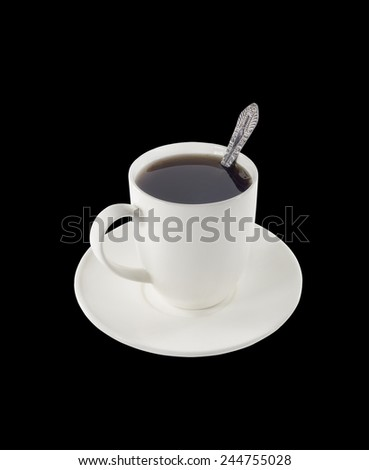 cup with a tea - stock photo