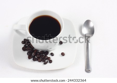 Cup with coffee - stock photo