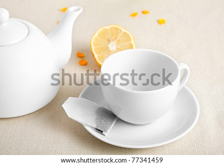 cup with tea bag