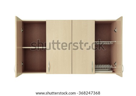 Cupboard isolated on white - stock photo