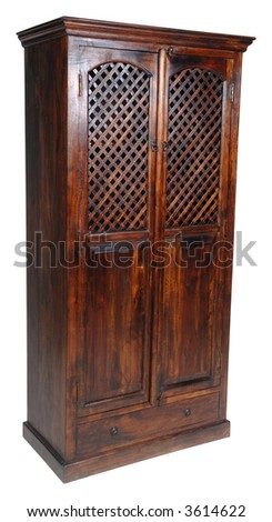 Cupboard on clean white background. - stock photo