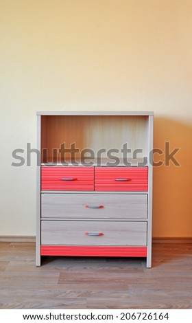 cupboard, wardrobe, children furniture - stock photo