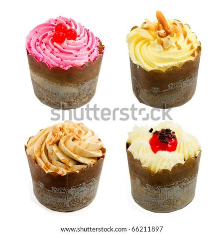 Cupcake collection - stock photo