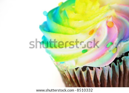cupcake isolated on a white background - stock photo