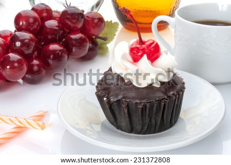 Cupcake on a table