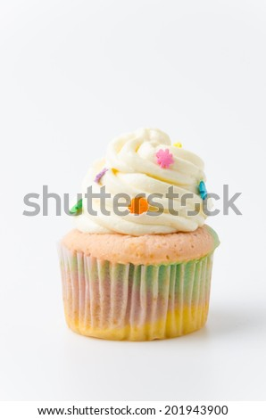 Cupcake rainbow - stock photo