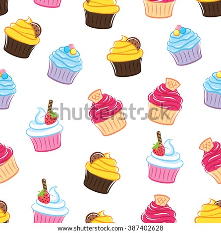 cupcake seamless background