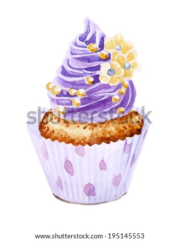 Stock images royalty free images vectors shutterstock - Creme decoration cupcake ...