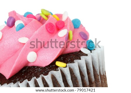 cupcake with space for text - stock photo