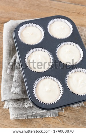 Cupcakes are going to be baked - stock photo
