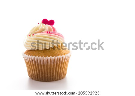 Cupcakes isolated on white