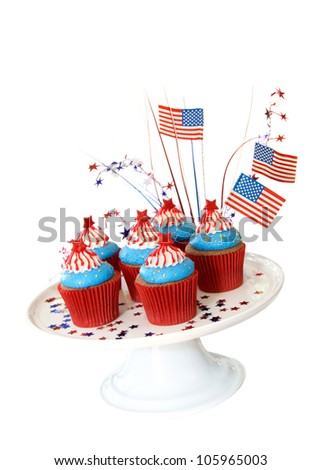 Cupcakes to celebrate 4th of July