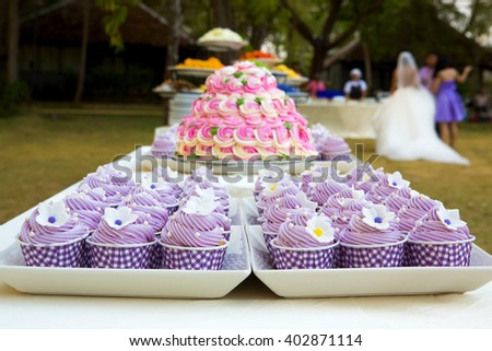 cupcakes Wedding - stock photo