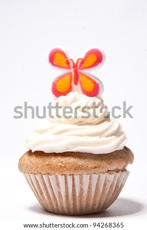 Cupcakes with a butterfly on top
