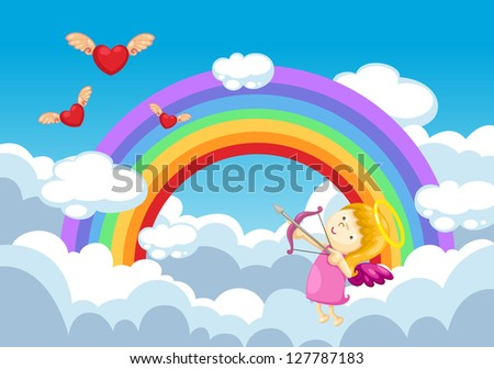 cupid in the clouds background.jpg (EPS vector version id 126787586,format also available in my portfolio)