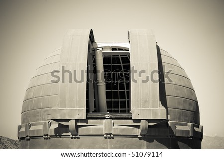 cupola of an observatorium - stock photo