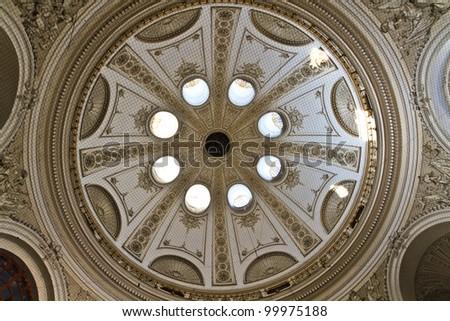 Cuppola Interior View (Vienna Hofburg Palace), Austria - stock photo