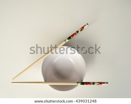 Cups and chopsticks to eat are equipment of the Chinese people