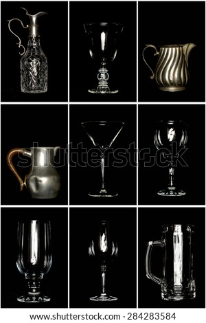 Cups and jugs - stock photo