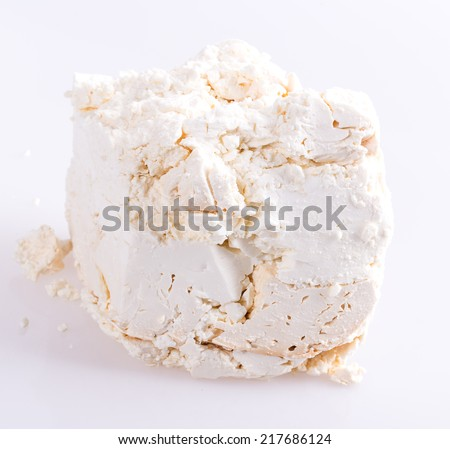 curd isolated on white background - stock photo