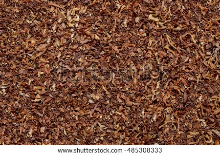 cured tobacco, cut into strips, background, texture, pattern