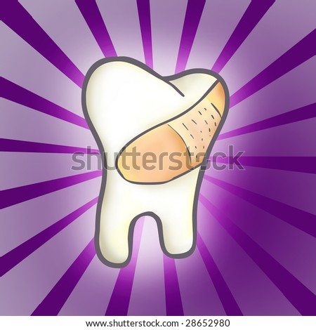 Cured Tooth - stock photo