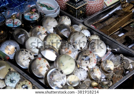 Curios at Chinese antique market - stock photo