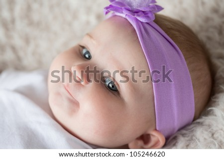 Curious Infant Baby [6 Month Old] - stock photo