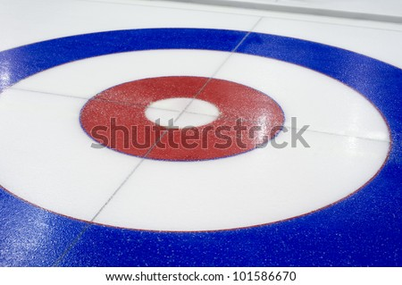 Curling background in the sports center - stock photo