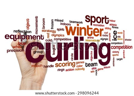 Curling word cloud - stock photo