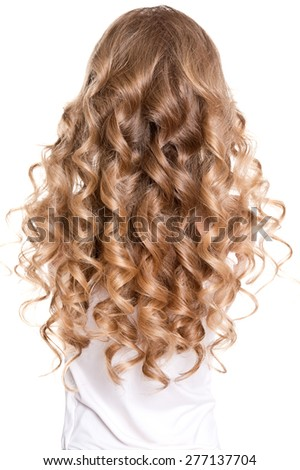Curly hair - stock photo