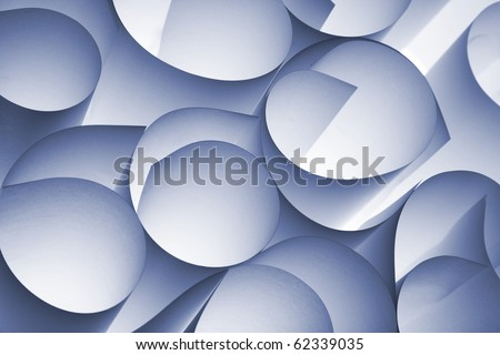curly paper abstract - stock photo
