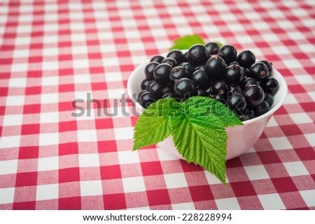 currants berry in a white plate