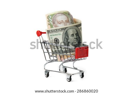 Currencies in the shopping cart