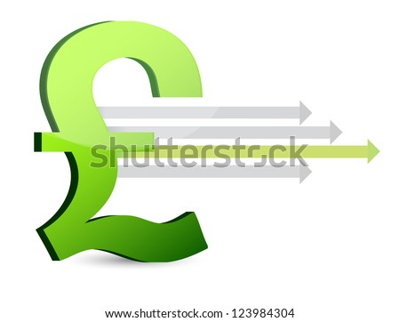 currency and arrows business design illustration design - stock photo
